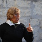 Diana Nyad making a point