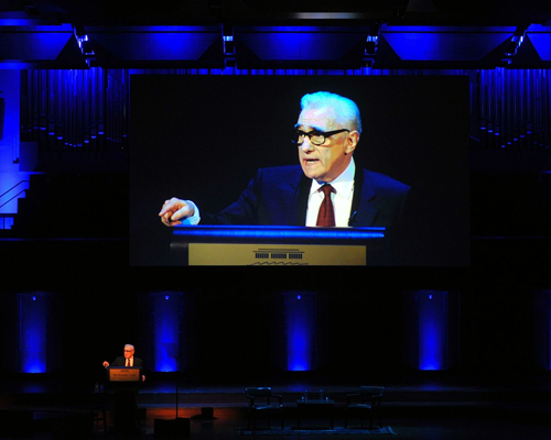 Martin Scorsese gives NEH Jefferson Lecture.  Photo by Ruth David, courtesy of NEH